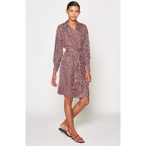 NEW $398 Joie Silk Geometric Print Shirtdress